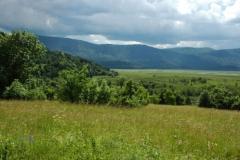 Pogled na Cerkniško jezero z Goričic