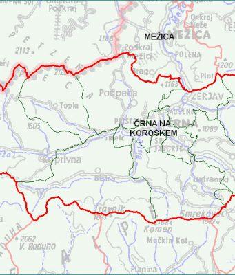 Črna na Koroškem - zemljevid