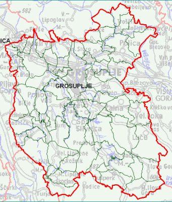 Grosuplje - zemljevid