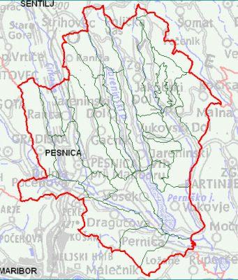 Pesnica - zemljevid