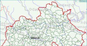 Trebnje - zemljevid