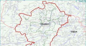 Vransko - zemljevid