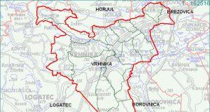 Vrhnika - zemljevid
