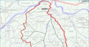 Zavrč - zemljevid