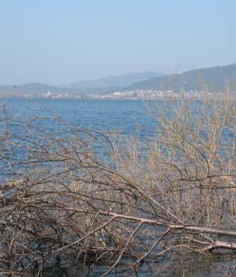 Jezero s Cerknico v ozadju